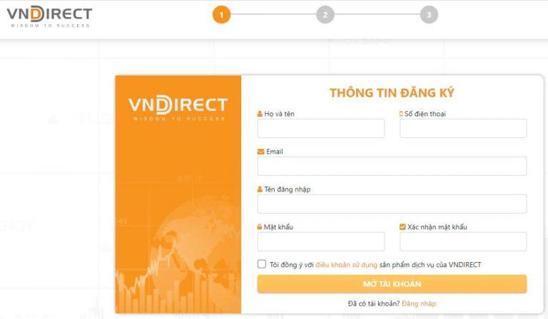 VNDirect có thủ tục mở tài khoản chứng khoán online rất đơn giản