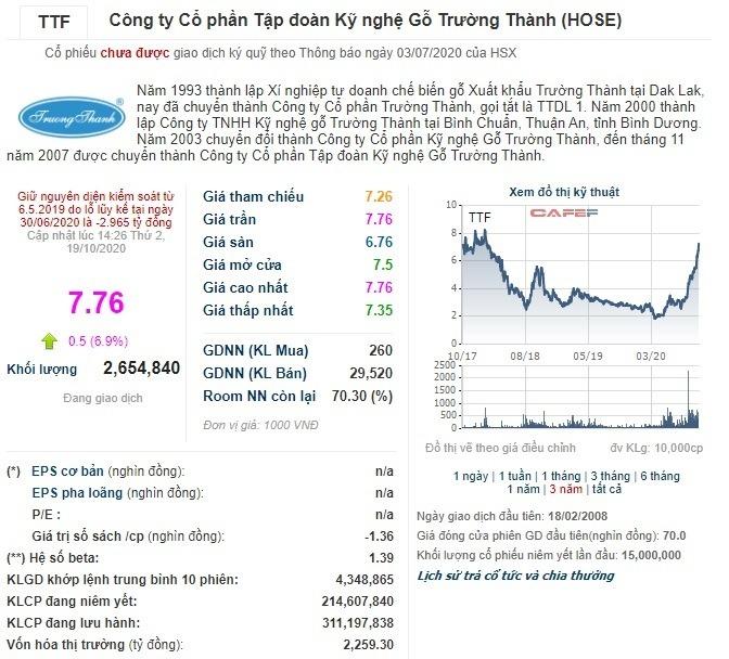 Trả giá hơn 2.200 tỷ không biết nhà đầu tư cổ phiếu TTF kỳ vòng gì?