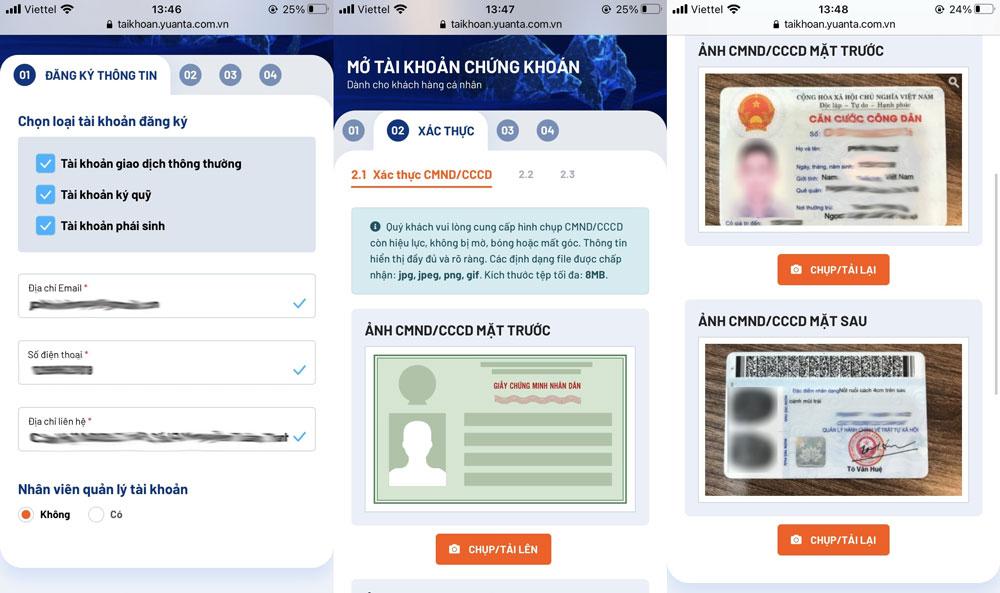 Đăng ký thông tin và chụp ảnh Căn cước công dân